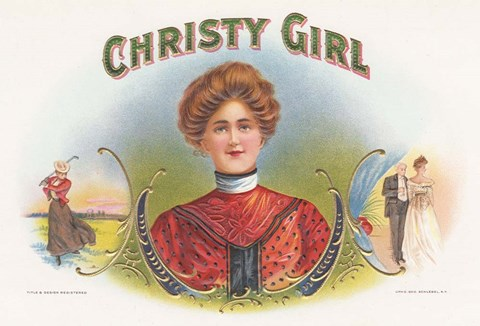Framed Christy Girl Print