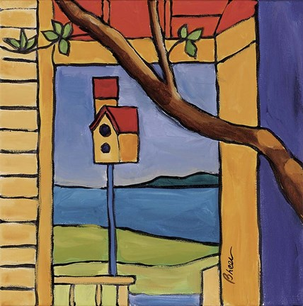 Framed Birdhouse South Freeport Print