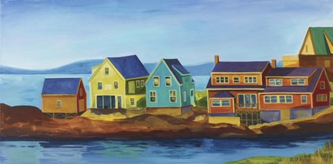 Framed Monhegan Docks Print
