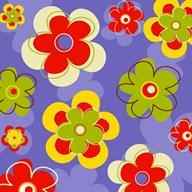 Floral on Purple  Fine Art Print