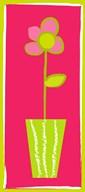 Pink Flower in Green Pot  Fine Art Print