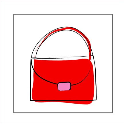 Framed Red Purse Print