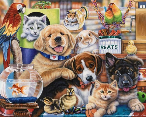Framed Pet Shop Print