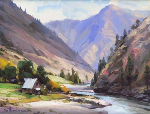 Framed Along The Salmon River Print