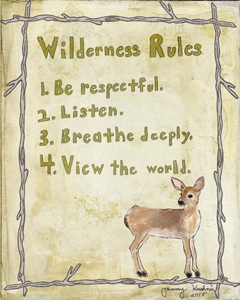 Framed Wilderness Rules Print