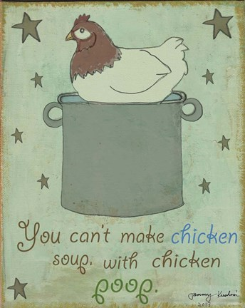 Framed Chicken Soup Print