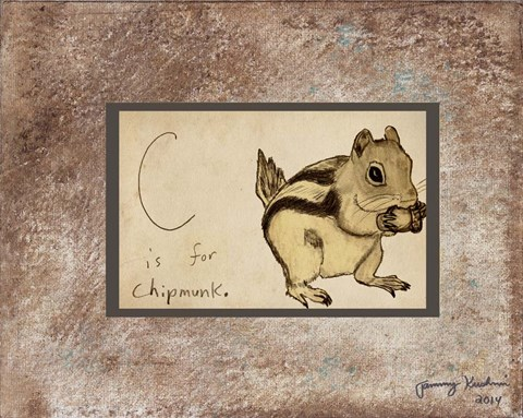 Framed C is For Chipmunk Print