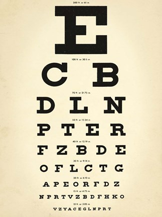 Framed Eye Chart Print