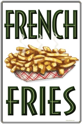 Framed French Fries Vertical Print