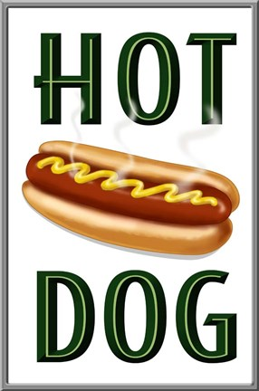 Framed Hot Dog Vertical Print