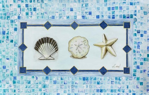 Framed Sea Shell Trio Print
