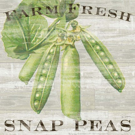 Framed Farm Fresh Peas Print