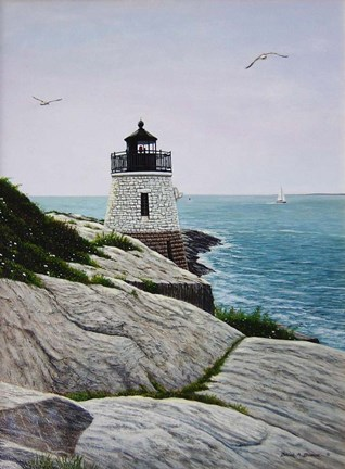 Framed Castle Hill Light Print