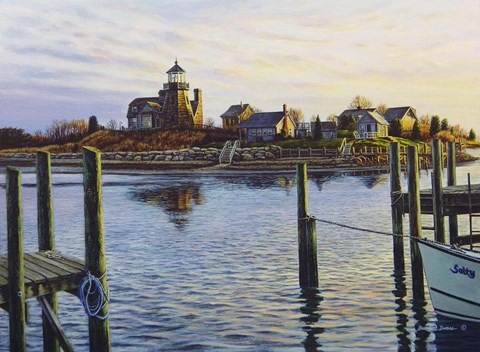 Framed Snug Harbor Light Print
