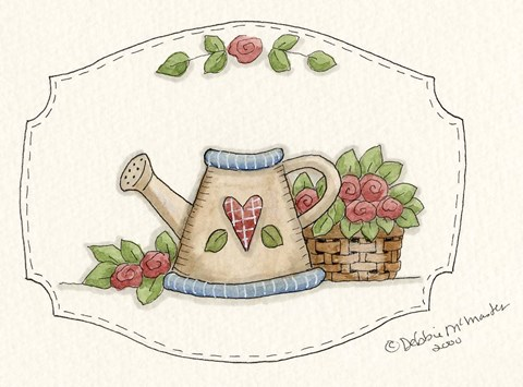 Framed Watering Can Print