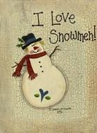 I Love Snowmen  Fine Art Print