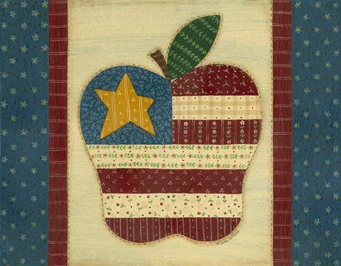Framed Apple Flag Print