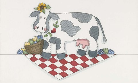 Framed Country Cow Print