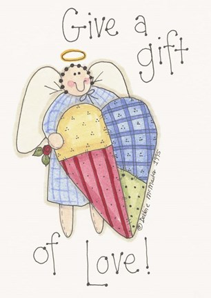 Framed Give A Gift Angel Print