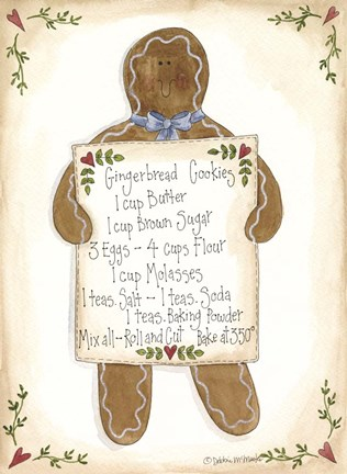 Framed Gingerbread Cookies Print