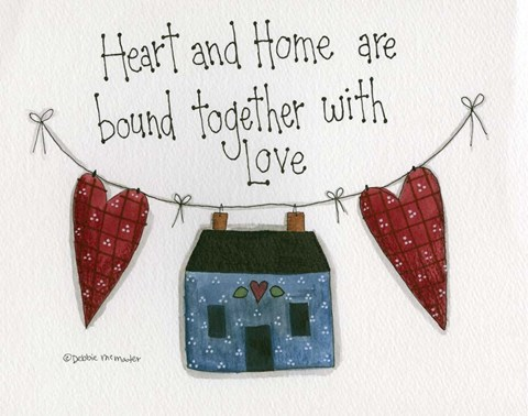 Framed Heart And Home Print