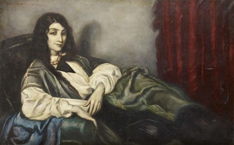 Framed Green Sofa, 1914 Print