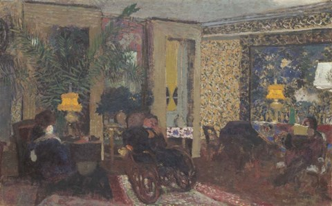 Framed Salon with Three Lamps, Rue Saint-Florentin, 1899 Print