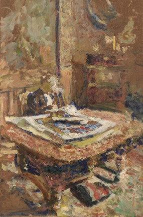 Framed Madame Vuillard Seated in Front of a Table, c. 1906 Print