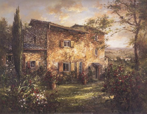 Tuscan Farmhouse Fine Art Print By Unknown At