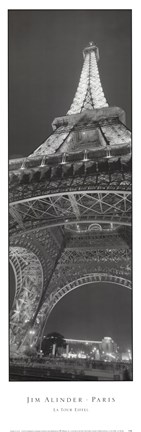 Framed Eiffel Tower Print