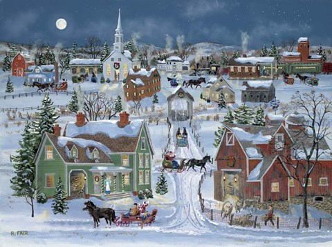 Christmas Homecoming Fine Art Print By Bob Fair At