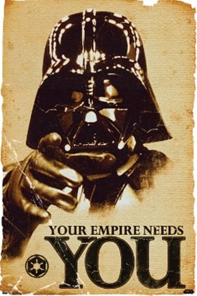Framed Star Wars - Your Empire Needs You Print