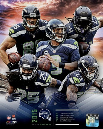 Framed Seattle Seahawks 2015 Team Composite Print