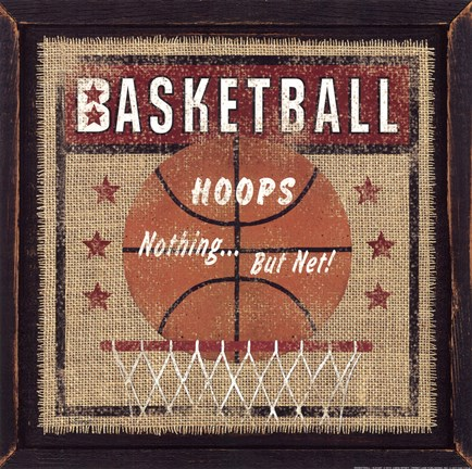 Framed Basketball Print
