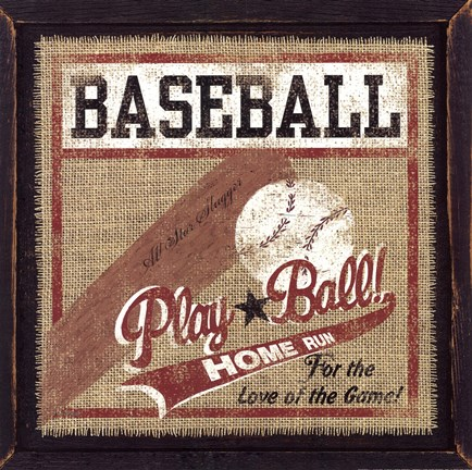 Framed Baseball Print