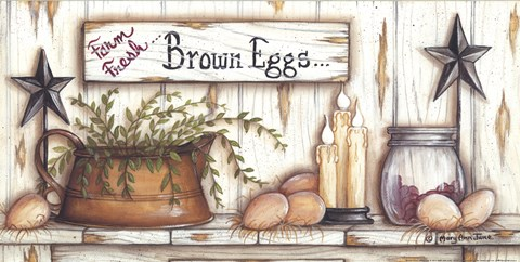 Framed Brown Eggs Print