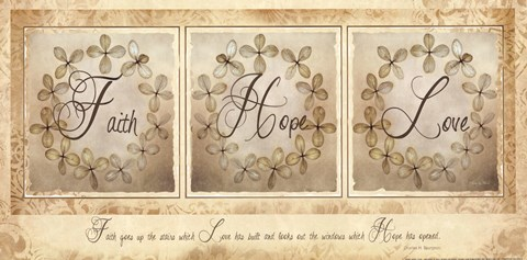 Framed Faith, Hope, Love Print