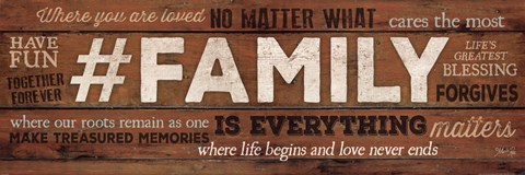 Framed #FAMILY Is Everything Print