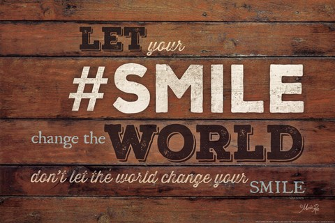 Framed #SMILE - Change the World Print