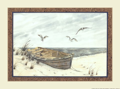 Framed Old Rowboat Print