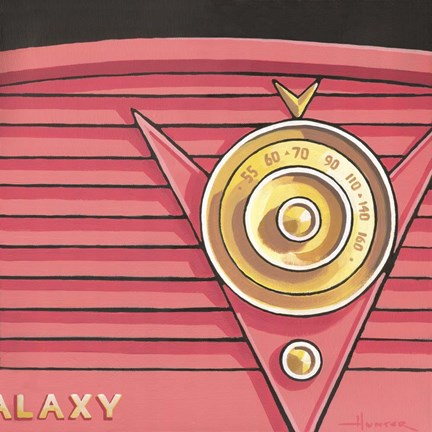 Framed Galaxy Radio - Coral Print