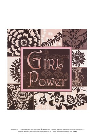 Framed Girl Power Print