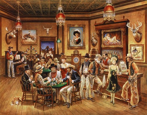 Western Saloon Fine Art Print By Lee Dubin At