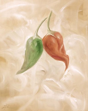 Framed Hot Peppers III Print