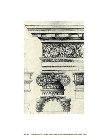 Framed Anonymous - English Architectural I Print