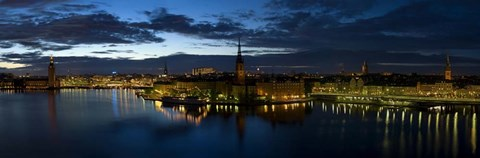 Framed Stockholm by Night Print