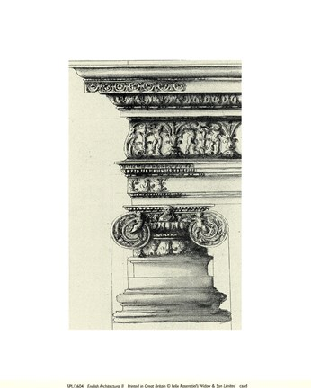 Framed English Architectural II Print