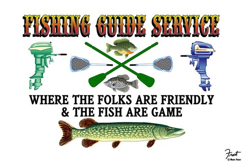 Framed Fishing Guide Service Print