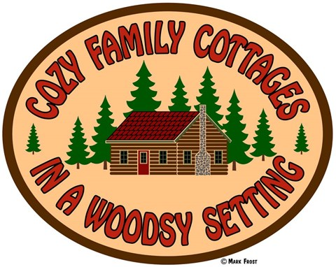 Framed Cozy Cottage Woodsy Setting Print