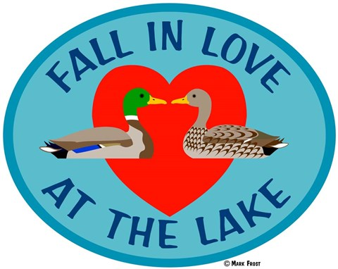 Framed FallIn Love At The Lake Print